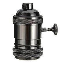 Винтажная лампа Эдисона, подвесной светильник E27 с винтовой лампой, алюминиевый светильник, розетка, промышленная Ретро фурнитура