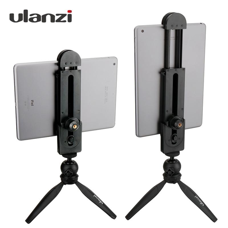 Ulanzi 5-12 Tablet Mount Tripod Stand, Tabletop Pad Adapter Clamp Holder Tripod for iPad Air Pro Mini 2 3 4 Xiaomi Mipad 2 PC