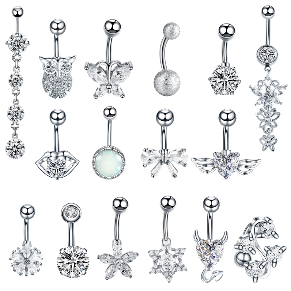 1PC Steel Belly Button Piercings Sexy Navel Piercing Belly Button Rings Nombril Ear Piercings Ombligo Navelpiercing Body Jewelry