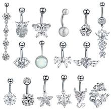 1PC Steel Belly Button Piercings Sexy Navel Piercing Rings Nombril Ear Ombligo Navelpiercing Body Jewelry
