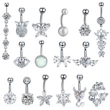 1PC Steel Belly Button Piercings Sexy Navel Piercing Belly Button Rings Nombril Ear Piercings Ombligo Navelpiercing Body Jewelry(China)