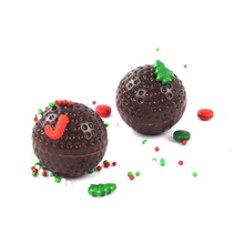 SHENHONG Golf Chocolate Mold Polycarbonate Hemispherical Baking Molds 3D Wave Point Mould Candy Free Tools