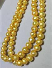 35 INCH HUGE NGUYÊN AAA 11-12 MÉT SOUTH SEA GOLDEN PEARL NECKLACE 14 k/20 VÀNG CLASP(China)