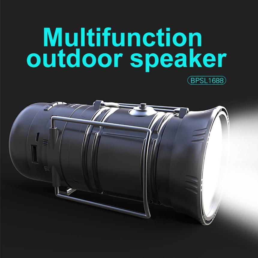 HIPERDEAL Portable Audio Video Speakers Multifunction Solar Rechargeable LED Flashlight Power Camping Tent Light Speaker dec29