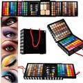 1 pcs da Sombra de Olho Profissional Pó Blush177 Cor Cosméticos Paleta Da Sombra de Maquiagem Com Esponja & Espelho