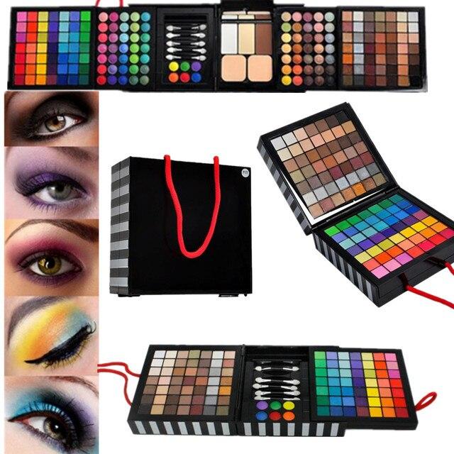 1pcs Professional Eye Shadow Powder Blush177 Color Cosmetics Makeup Eyeshadow  Palette With Sponge & Mirror