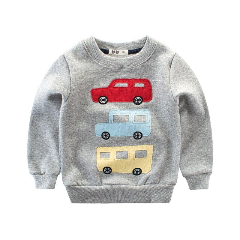 Boy Shirts Children Fall Winter O-neck Collar Cartoon Car Pattern Tops Casual Comfortable Clothes Long Sleeve Fashion Clothes