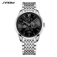 SINOBI Мужские деловые часы полностью Стальные кварцевые часы мужские Relogio Masculino 2018 спортивные часы лучший бренд эксклюзивные мужские часы