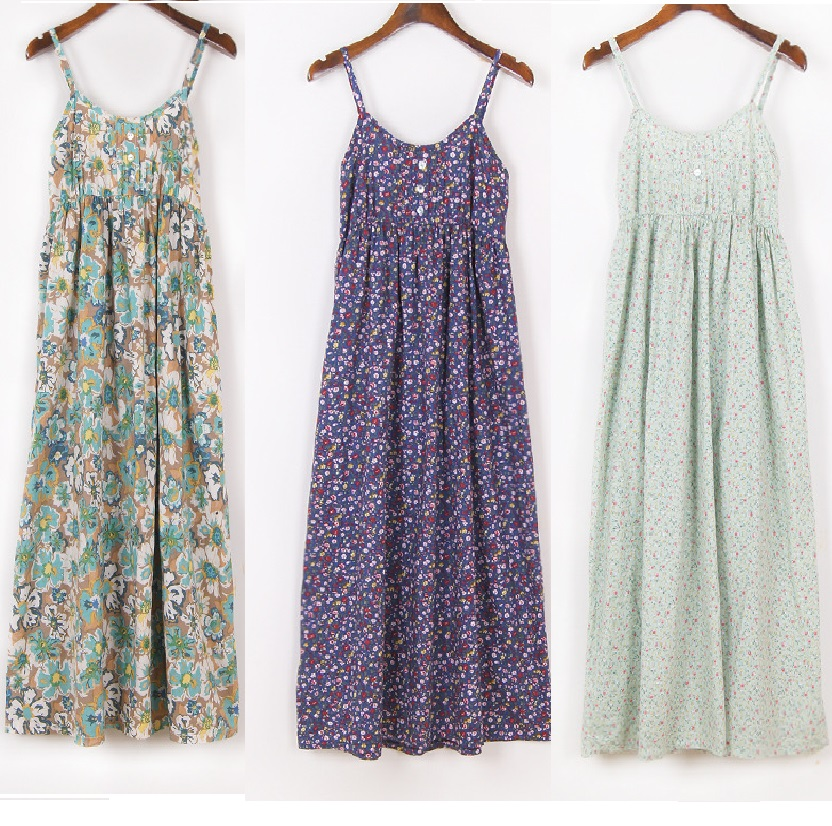2016 New Summer Style Women backless Cotton floral printed ...