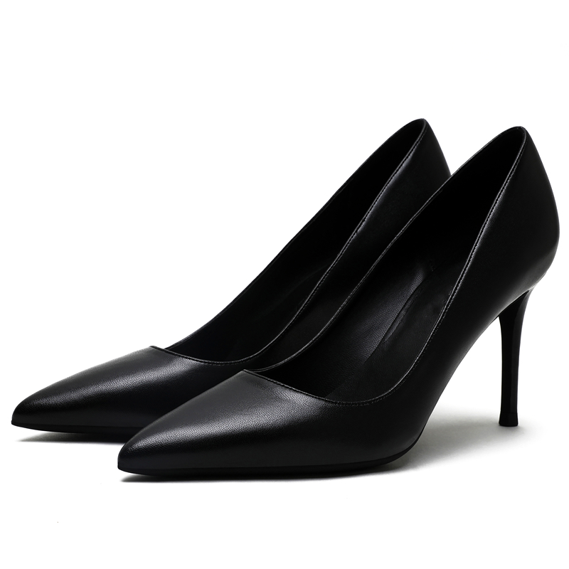 KATELVADI パーティー靴ハイヒールのファッション女性パンプス黒スプリットレザー 8 センチメートルハイヒールのセクシーな結婚式の靴の女性、 k 319  グループ上の 靴 からの レディースパンプス の中 2