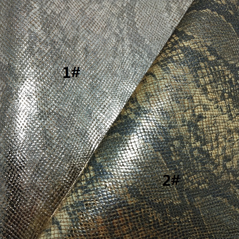 1PCS A4 SIZE 21X29cm Alisa Glitter Cuero Sintetico Embossed Snake  Leather Sheets Leather for DIY G32A