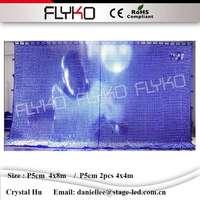 CE RoHS DMX RGB flexible led video curtain led moving message display P5cm 4x8m