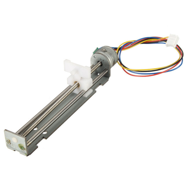 Hot Sale DC 4-9V Drive Stepper Motor Screw With Nut Slider 2 Phase 4 Wire Micro Sliding table fit for laser engraving Machine