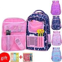 Raged Sheep Pupils Backpack Girls Double Shoulder Bags Grade1 6 Refrigerator Side Door Princess's Portable bags Back To School