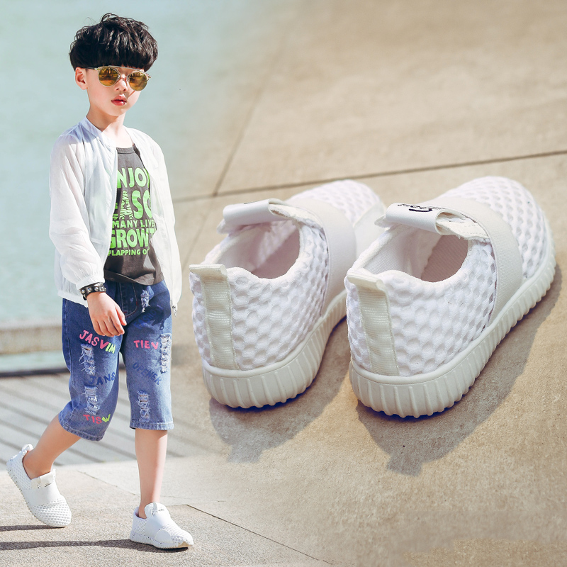 Childrens Net Shoes kids Net Ventilation 2018 New Summer Primary School Students boys sports Leisure Running shoes Lazy shoes