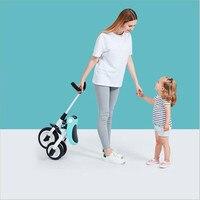 Детская трехколесная тележка для велосипеда 2 3 6 лет легкая Портативная Складная велосипедная Коляска Высокое качество игрушка для детей