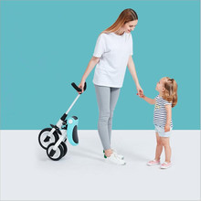 Children's Tricycle Trolley 2-3-6 Years Old Bicycle Lightweight Portable Folding Bicycle Stroller high Quality Toy for Children