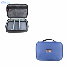 1Pcs Blue 16*23.5*7cm Storage Bag For Cable Wires Of Cellphone,Digital camera,Arduous Disk,U-Disk