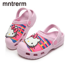 Mntrerm 2017 New Glowing Clogs Kids Mules And Clogs Environmentally Friendly Materials Cool Slippers Cartoon Clogs Snadals Led