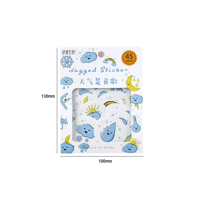 Купить с кэшбэком 45pcs/pack Kawaii Japan Salt Sicker Bag sticker Paper Decorative Stationery Stickers Scrapbooking DIY Diary Album Stick Label