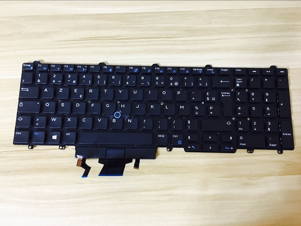 New  keyboard for Dell Latitude 15 5000 E5550 E5570 backlit FR/French /BE/Belgium/Brazil layout
