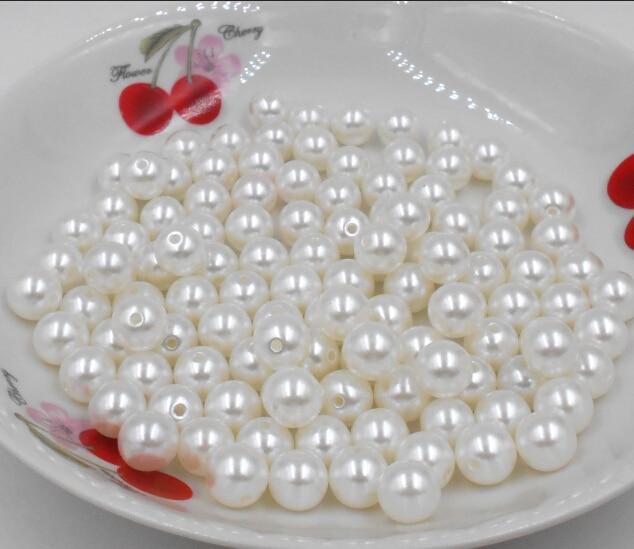 4 мм диаметр. 1150 шт./лот круглый жемчуг искусственный пластиковый жемчуг бусины цвета слоновой кости для вас DIY модные украшения белый U-pick Fit