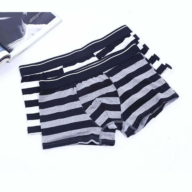 ... Brand Underwear Men Cueca Boxer stripe body Suit Cotton Sheer Boxer  Shorts Klein Property Underpants Hombre ... 756988eac45e