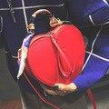 Nova Moda Personlity Forma Do Coração bolsa de Ombro Crossbody Sacos Para Bolsas de Couro Das Mulheres Totes Saco com Lenço sac a principal