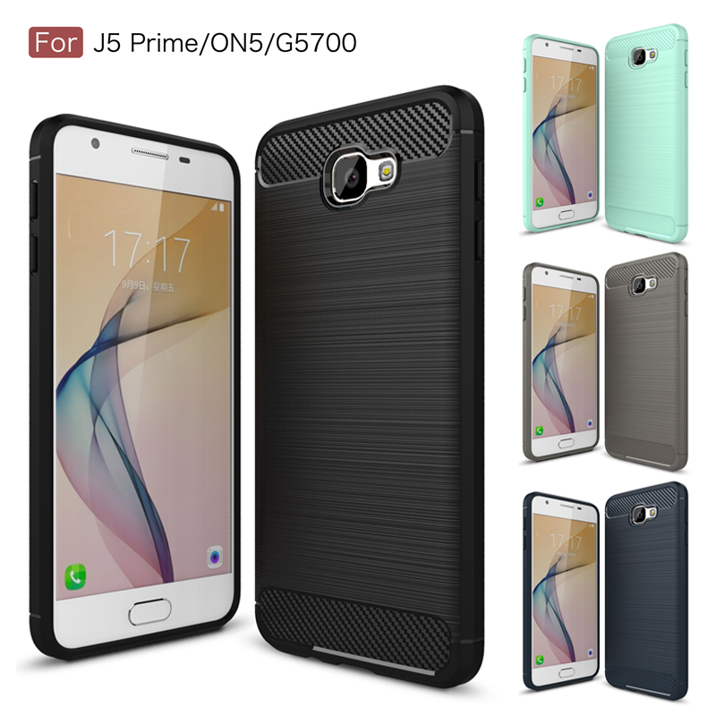Rugged Rubber Brushed Cases For Samsung Galaxy On5 2016 J5 Prime TPU  Silicone Case Samsung Galaxy