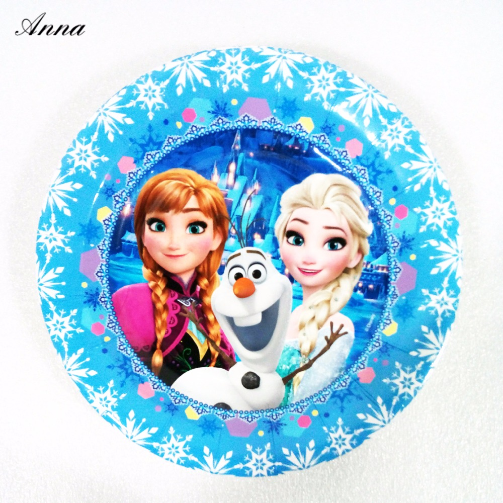6pcs/bag Disney Frozen Princess Anna Elsa 7inch Party Supplies Paper Plate Dishes Kids Birthday  sc 1 st  AliExpress.com & 6pcs/bag Disney Frozen Princess Anna Elsa 9inch Party Supplie Paper ...
