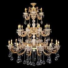 Zinc Alloy Crystal candle lights fashion chandelier earrings large modern crystal chandelier pendant led bronze chandeliers led