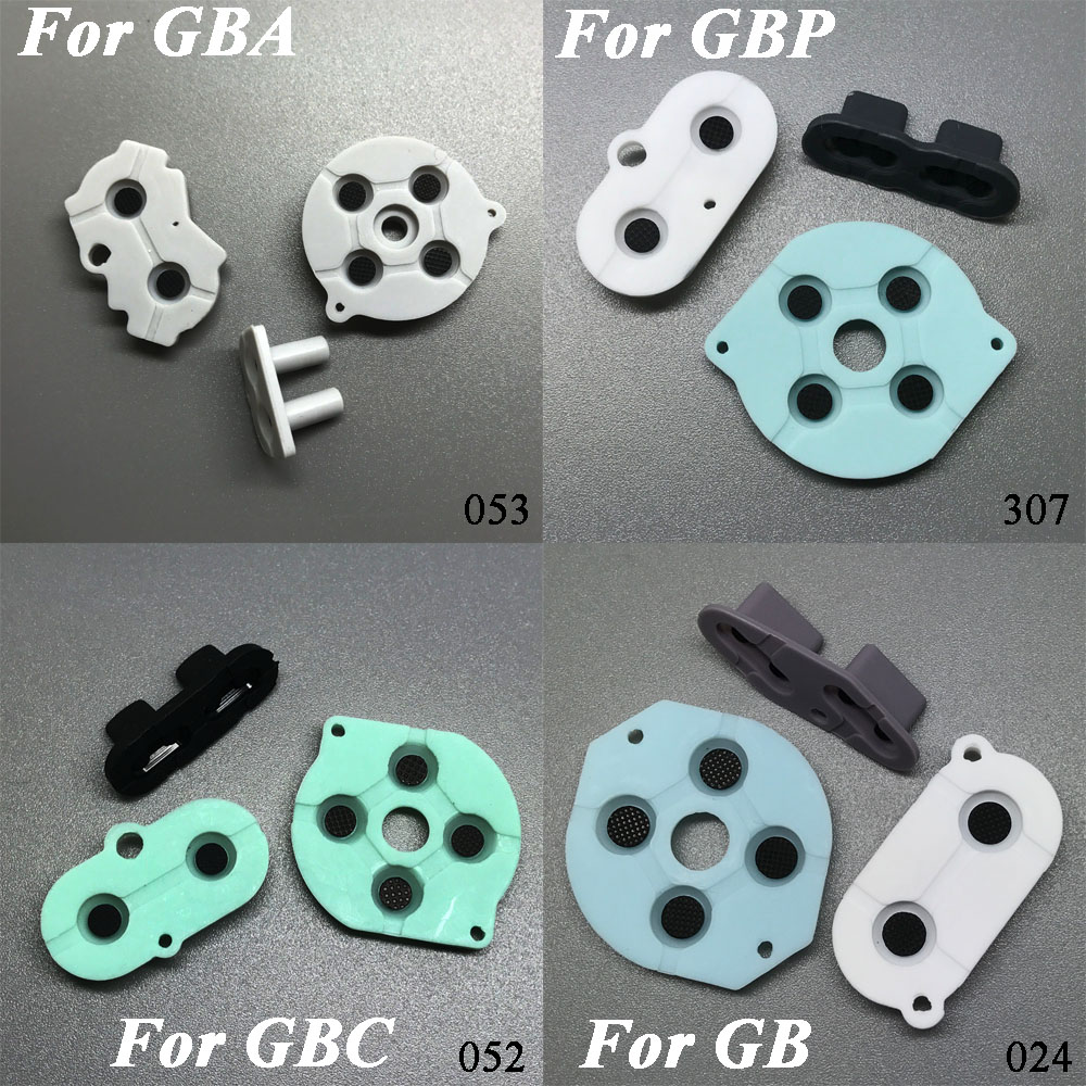 5models 10sets freeshipping For GB GBP GBA SP Conductive Rubber Silicone Pads Buttons For Game Boy Color GBC Console [100set 200pcs] brand new rotating shaft hinge axle part for gba sp gameboy advance sp game console replacement