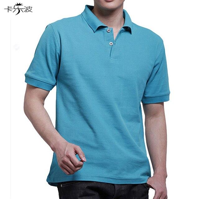 Marque vêtements polo chemise solide casual polo homme pour hommes polo  chemise T-shirt Dessus 0551e76e7ac3