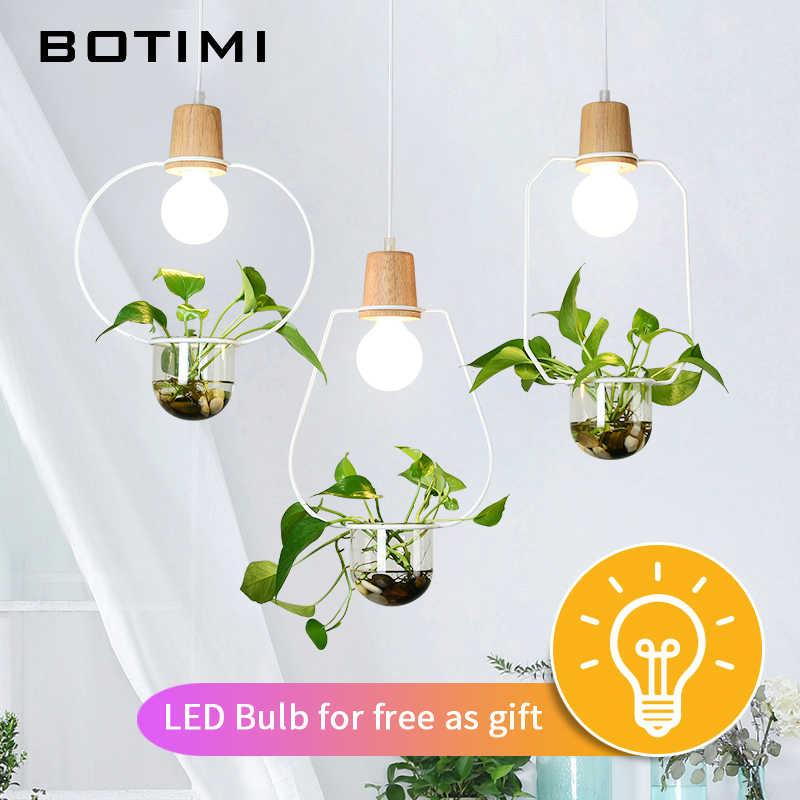 BOTIMI скандинавский подвесной светильник s для столовой Кофейни подвесной светильник Рестер Ресторан Бар лампы без растений