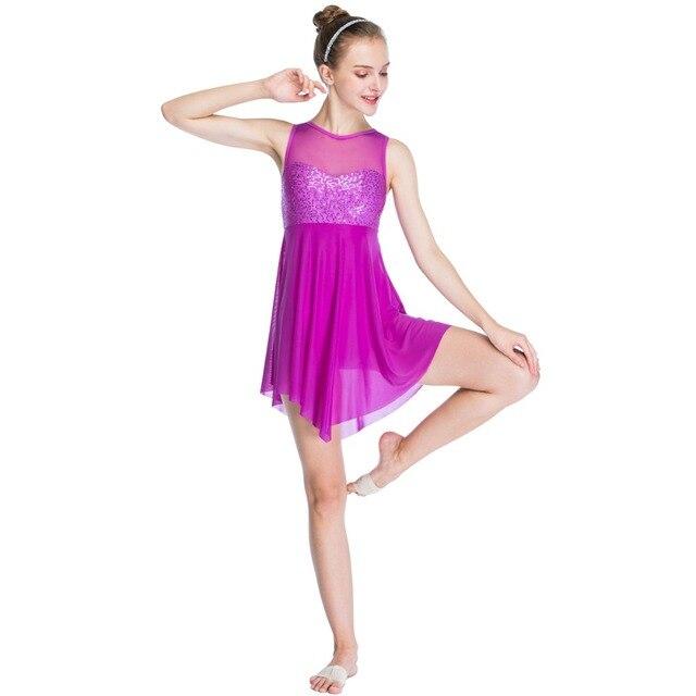 3d95a7f00 Modern Leotard Sleeveless Sequins Ballet Dance Dress For Girls ...
