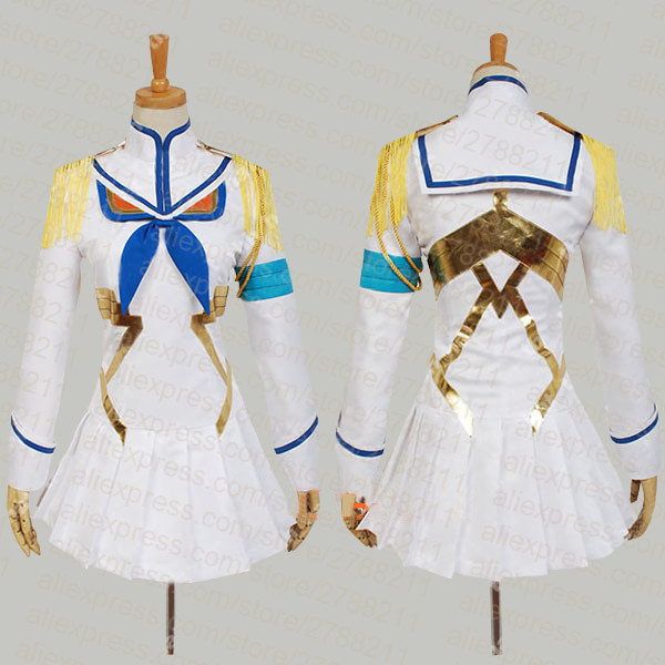 Kill la Kill Satsuki Kiryuin Cosplay White Womens Kill la Kill Cosplay Costume