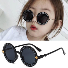 Steampunk Cartoon Kids Sunglasses Boys Girls Luxury Vintage Children Round Sun Glasses Oculos Feminino Accessories