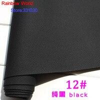 12 # czarny Micro Lychee Pattren wysokiej jakości 1.2mm grubości torby PU Skóra tkanina DIY samochodów stół łóżko materiał (140*50 cm)