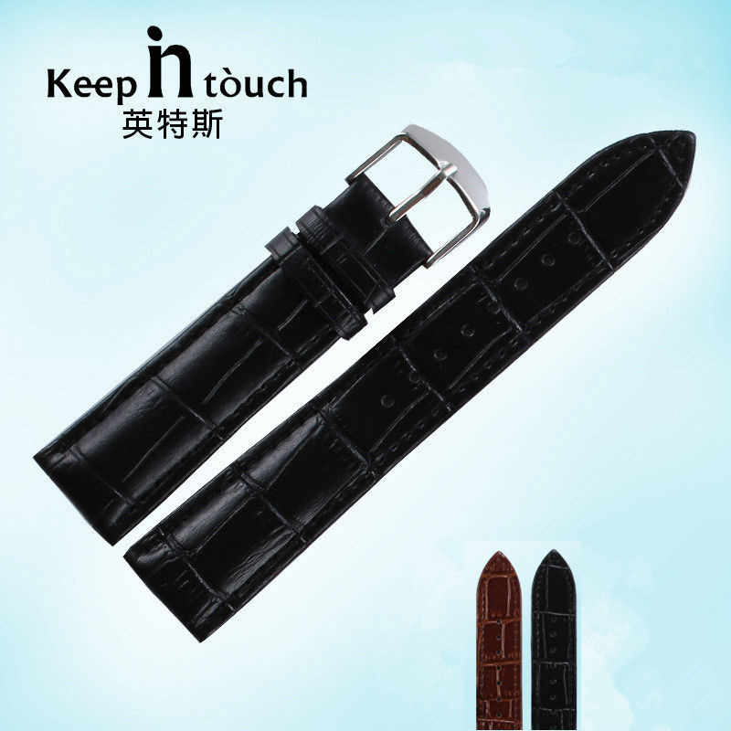 New watch bracelet belt black watchbands  strap watch band 16mm 18mm 20mm 22mm watch accessories wristband genuine leather