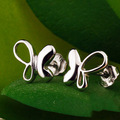 Fantasy butterfly 925 silver jewelry earrings