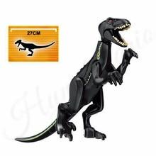 2pcs Jurassic World 2 Park Dinosaur Indoraptor Velociraptor Blue Building Block Bricks Compatible Lego Dinosaurs 75930