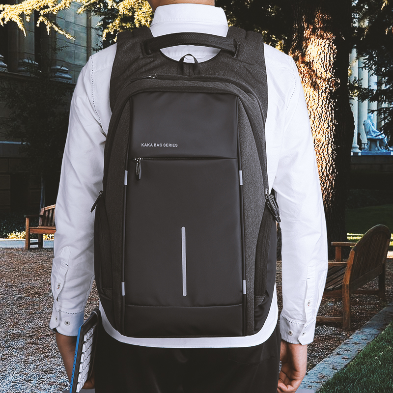 KAKA Rugzak Brand Design USB Charging Men Backpack 15 inch Laptop Bag Backpack Male Waterproof Schoolbag Backpack Mochila 5