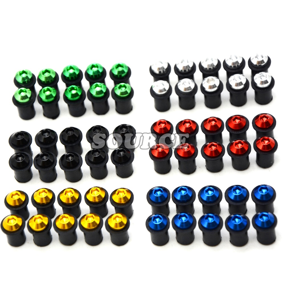 5mm 10pcs Universal motorcycle Windshield Spike Bolts Screw Nuts for yamaha mt-07 mt-09 mt07 mt09 mt 07 09 honda cbr 600 f4i motorcycle accessories fairing windshield body work bolts nuts screws for yamaha mt 01 mt 02 mt 03 mt 07 mt 09 tracer mt 10 abs