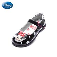 Disney милые туфли принцессы 2018 весна девушки оборками Микки кожаные туфли маленьких детей студентов и детские кеды