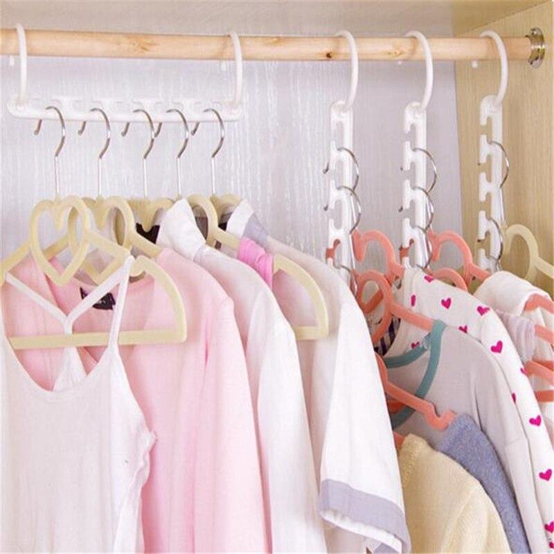 delidge 1 pc space saving hanger plastic cloth hanger hook magic clothes hanger with hook closet organizer - Hooks For Clothes Hangers