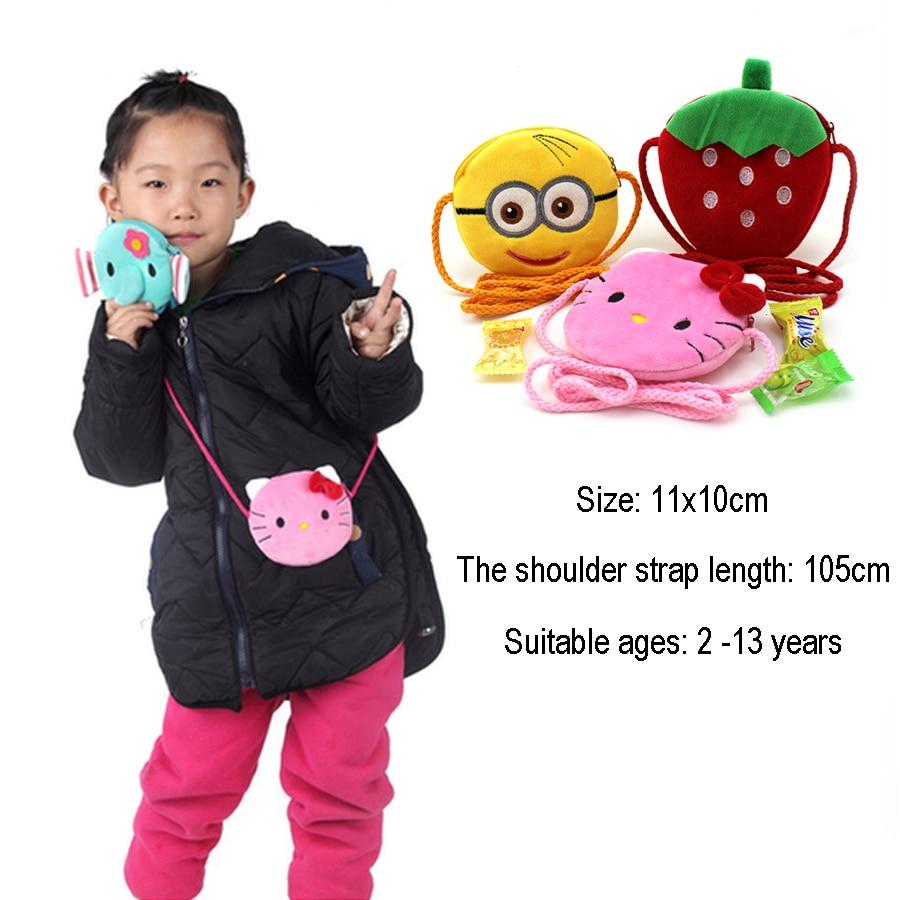 XYDYY Kawaii Multi-function Girls Mini Purse Bag Cute Cartoon Boys Small Plush Coin Purse Children Handbag Kids Shoulder Pouch