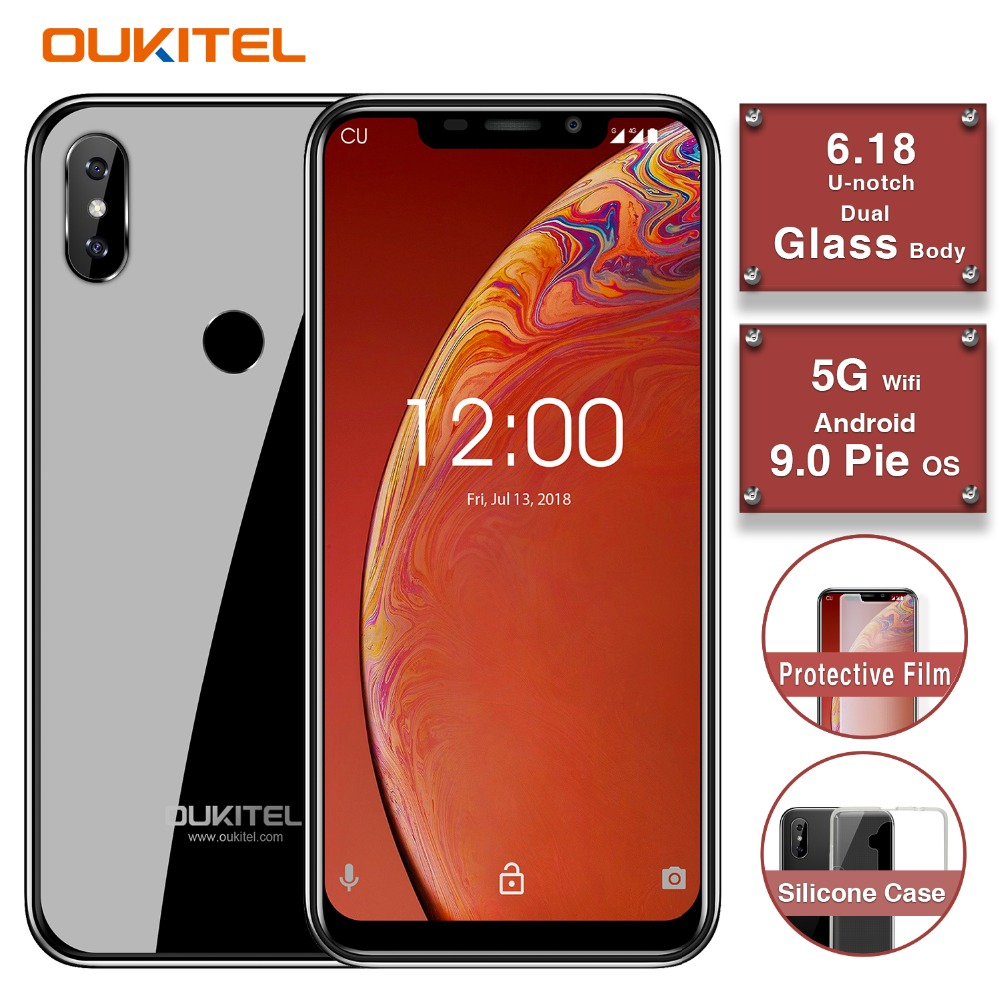 "OUKITEL C13 Pro 5G/2.4G WIFI 6.18"" 19:9 2GB 16GB Android 9.0 Mobile Phone MT6739 Quad Core 4G LTE Smartphone Face ID 3000mAh"