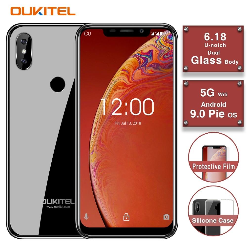 "OUKITEL C13 Pro 5G/2.4G WIFI 6.18"" 19:9 2GB 16GB Android 9.0 Mobile Phone MT6739 Quad Core 4G LTE Smartphone Face ID 3000mAh"