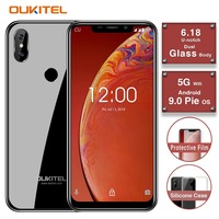 OUKITEL C13 Pro 5G/2.4G WIFI 6.18 19:9 2GB 16GB Android 9.0 Mobile Phone MT6739 Quad Core 4G LTE Smartphone Face ID 3000mAh