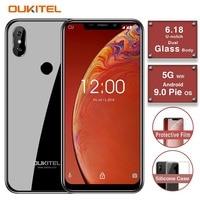 OUKITEL C13 Pro 5G/2.4G WIFI 6.18 19:9 2GB 16GB Android 9.0 Mobile Phone MT6739 Quad Core 4G LTE Smartphone Face ID 3000mAh
